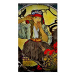 Girl with a Raven Double-Sided Standard Business Cards (Pack Of 100)