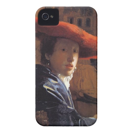 Girl with a Red Hat, c.1665 (oil on panel) Case-Mate iPhone 4 Case