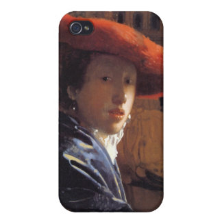 Girl with a Red Hat, c.1665 (oil on panel) iPhone 4 Cases