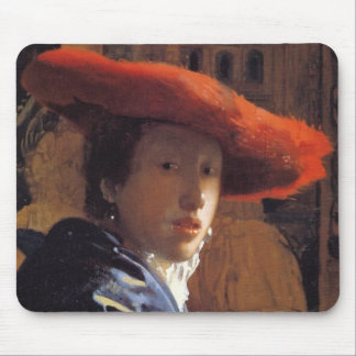 Girl with a Red Hat, c.1665 (oil on panel) Mouse Pad