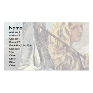 Girl With A Seagull By Courbet Gustave Double-Sided Standard Business Cards (Pack Of 100)