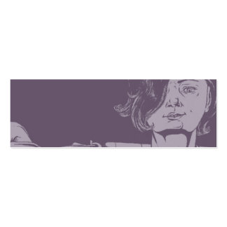 Girl With a Shotgun Bookmark Double-Sided Mini Business Cards (Pack Of 20)