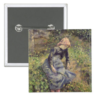 Girl with a Stick, 1881 Pinback Buttons