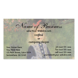 Girl with a Watering Can by Pierre Auguste Renoir Business Card