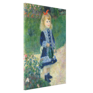 Girl with a Watering Can by Pierre-Auguste Renoir Canvas Print