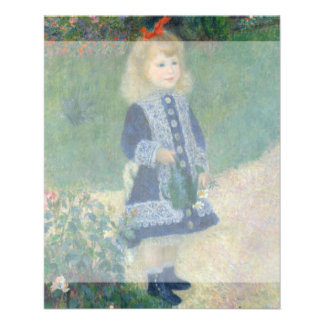 Girl with a Watering Can by Pierre-Auguste Renoir Custom Flyer