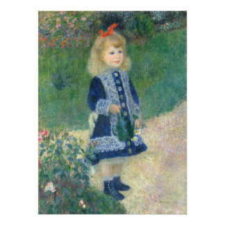 Girl with a Watering Can by Pierre-Auguste Renoir Photo Print
