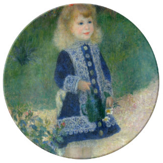 Girl with a Watering Can by Pierre-Auguste Renoir Plate