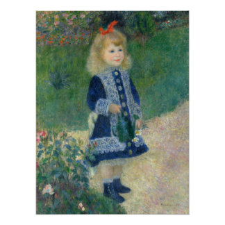Girl with a Watering Can by Pierre-Auguste Renoir Poster