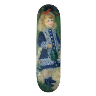 Girl with a Watering Can by Pierre-Auguste Renoir Skateboard