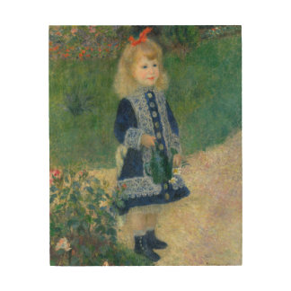 Girl with a Watering Can by Pierre-Auguste Renoir Wood Wall Art