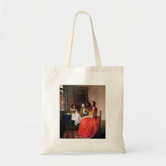Girl with a wine glass by Johannes Vermeer Bags