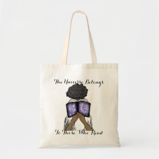 Girl with afro reading Tote