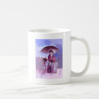 GIRL WITH AN UMBRELLA COFFEE MUG