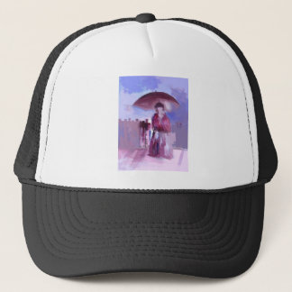 GIRL WITH AN UMBRELLA TRUCKER HAT