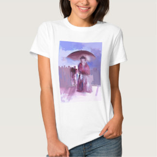 GIRL WITH AN UMBRELLA T SHIRTS