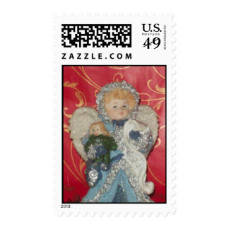 Girl with Angel Wings Postage Stamp