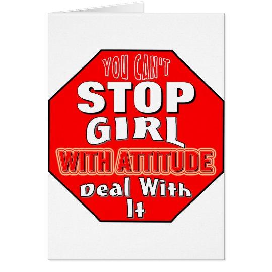 Girl With Attitude Card