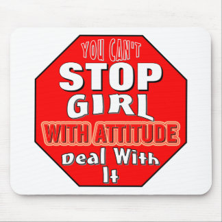 Girl With Attitude Mouse Pad