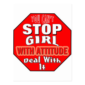 Girl With Attitude Post Cards