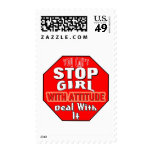 Girl With Attitude Postage Stamps