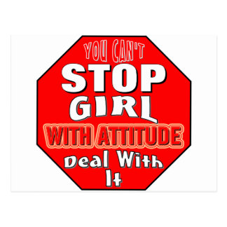 Girl With Attitude Postcard