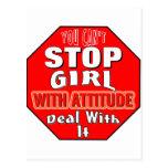 Girl With Attitude Postcard