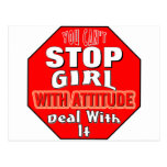 Girl With Attitude Postcards