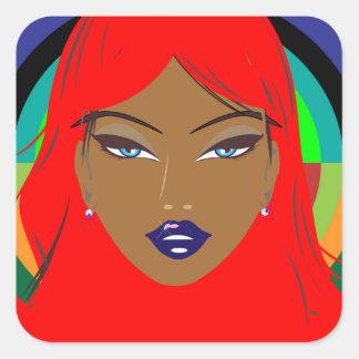 girl with Attitude Square Sticker