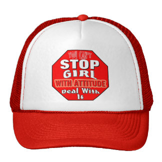 Girl With Attitude Trucker Hat