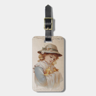 Girl with Baby Ducks - Customize Tag For Bags