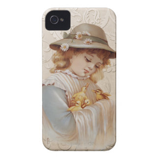 Girl with Baby Ducks iPhone 4 Case