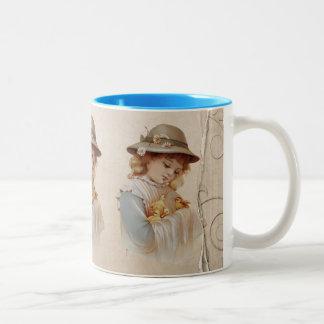 Girl with Baby Ducks Coffee Mug