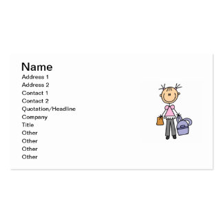 Girl With Backpack Business Card