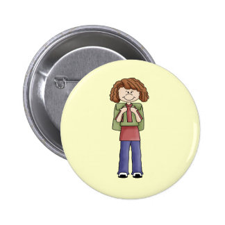 Girl With Backpack Pins