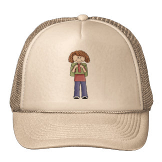 Girl With Backpack Hat