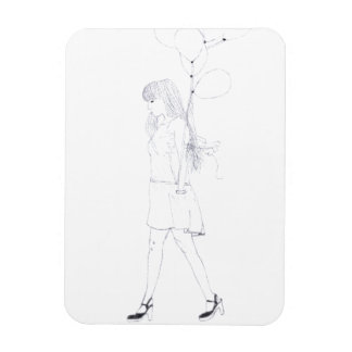 Girl with Balloons photo magnet