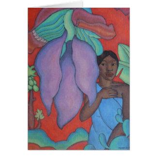 'Girl with Banana Leaf' - Arman Manookian Card