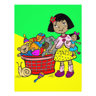 Girl With Basket Of Toys Flyer