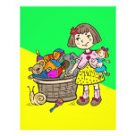 Girl With Basket Of Toys Full Color Flyer