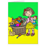 Girl With Basket Of Toys Stationery Note Card