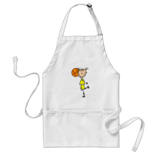 Girl With Basketball T-shirts and Gifts Adult Apron