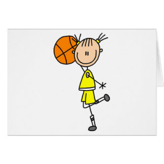 Girl With Basketball T-shirts and Gifts Card
