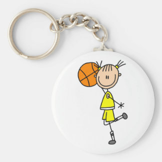 Girl With Basketball T-shirts and Gifts Keychain