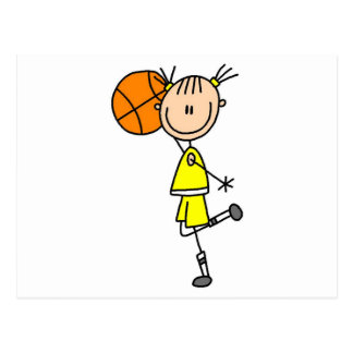 Girl With Basketball T-shirts and Gifts Postcard