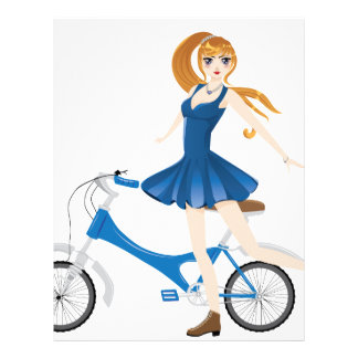 Girl with Bicycle 2 Letterhead