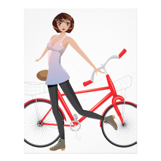 Girl with Bicycle Letterhead