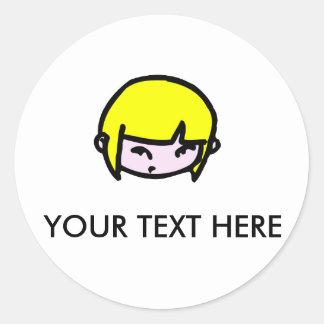 Girl with blonde hair Sticker