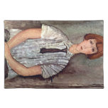 Girl with blouse by Amedeo Modigliani Placemats