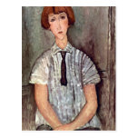 Girl with blouse by Amedeo Modigliani Postcard